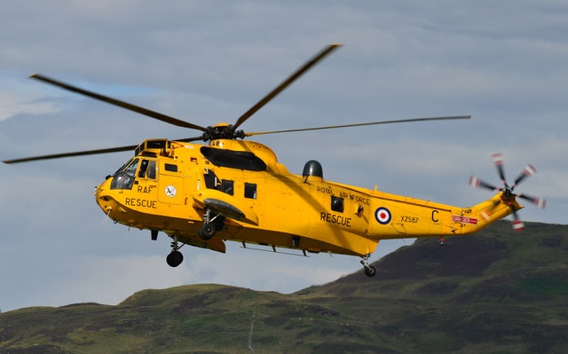 RAF Sea King at Oban Airport