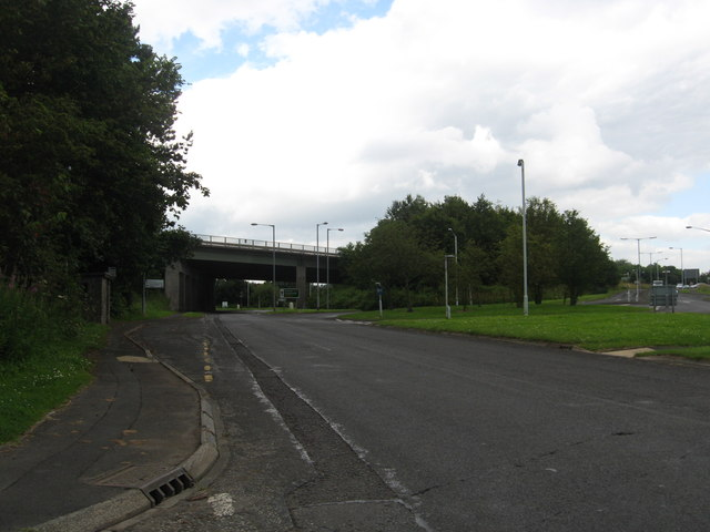 Looking towards the junction of the A192 and the A1