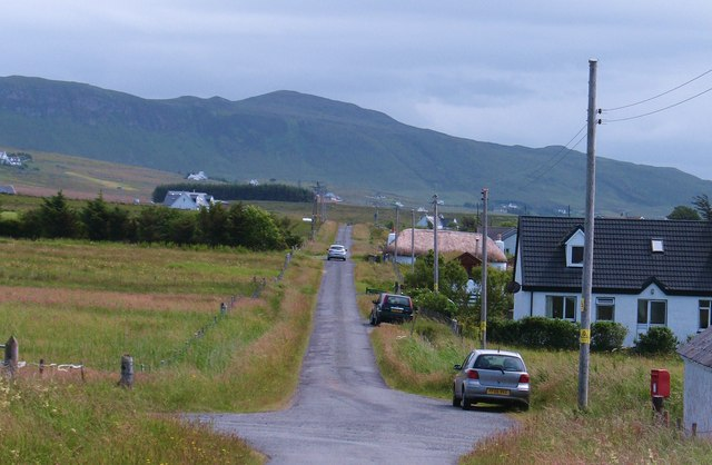 Crossroads in Bornesketaig
