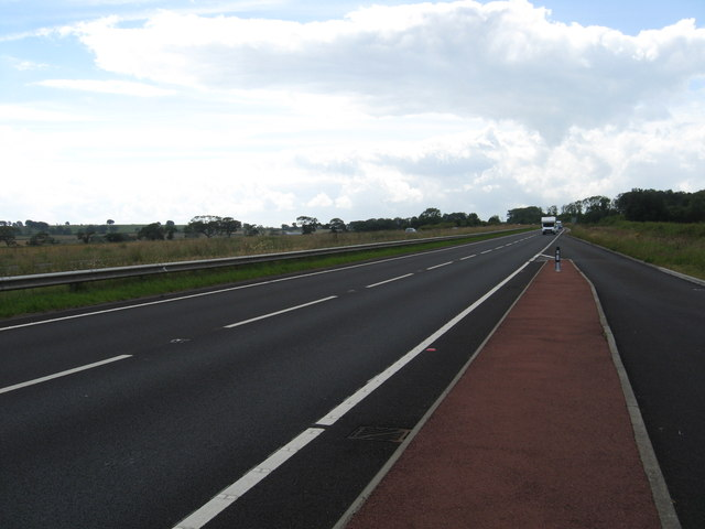 Looking south on the A1