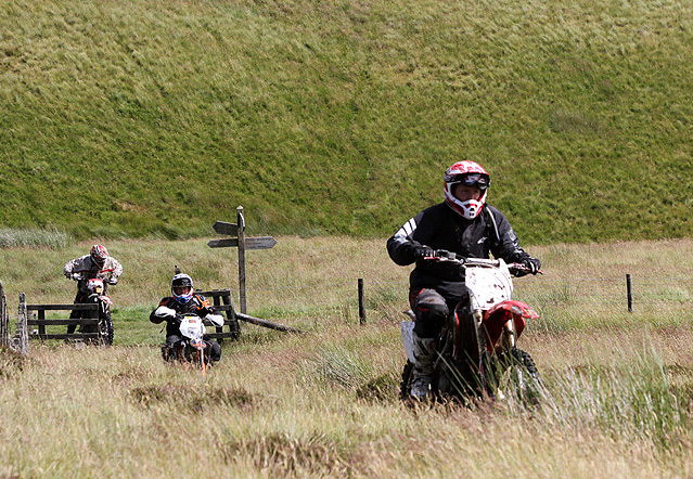 Motor cyclists on the Pennine Way