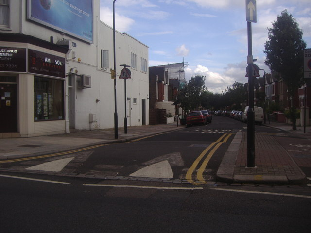 Davis Road from The Vale, Acton