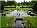 SJ5351 : View of Cholmondeley Castle Gardens from the Castle by pam fray