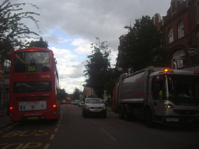 Large vehicles on High Street Acton
