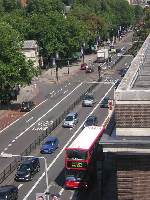 Olympic Route Network: Games Lanes, Euston Road NW1