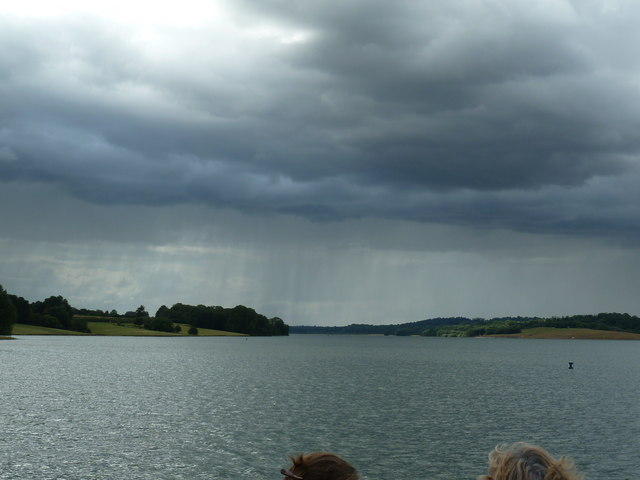 Rain over Rutland Water