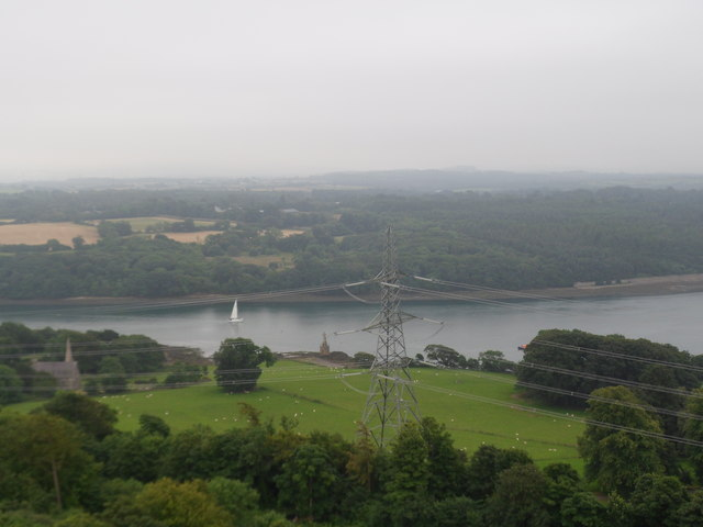 View from the top of the Marquess of Anglesey's Column, Llanfairpwllgwyngyll