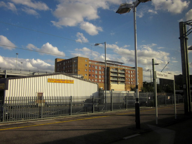 Buildings by Harlow Town station