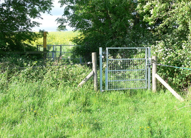 Gates along the Leicestershire Round Footpath