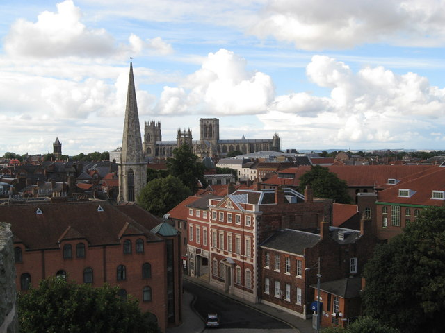 Towards York Minster from Clifford's Tower