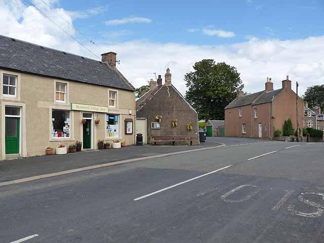 Morebattle village centre