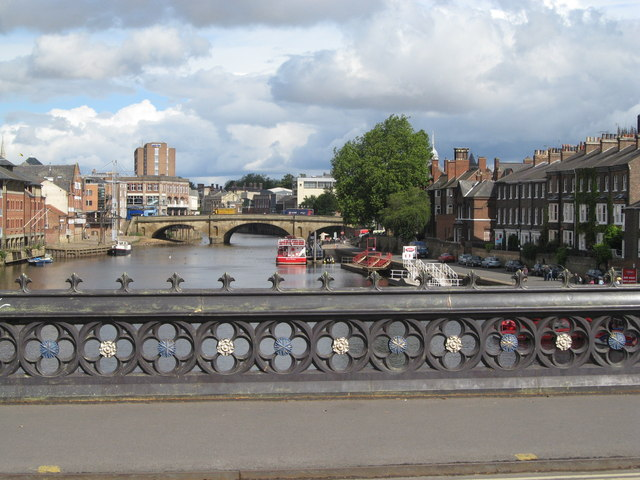 Ouse Bridge from Skeldergate Bridge, York
