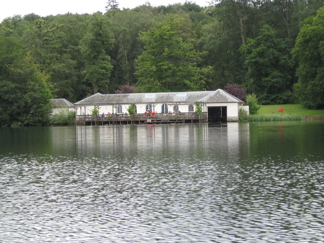 Castle Howard boat house from the Great Lake