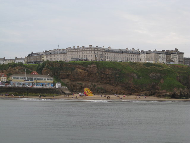 East Terrace, Whitby from the North Sea