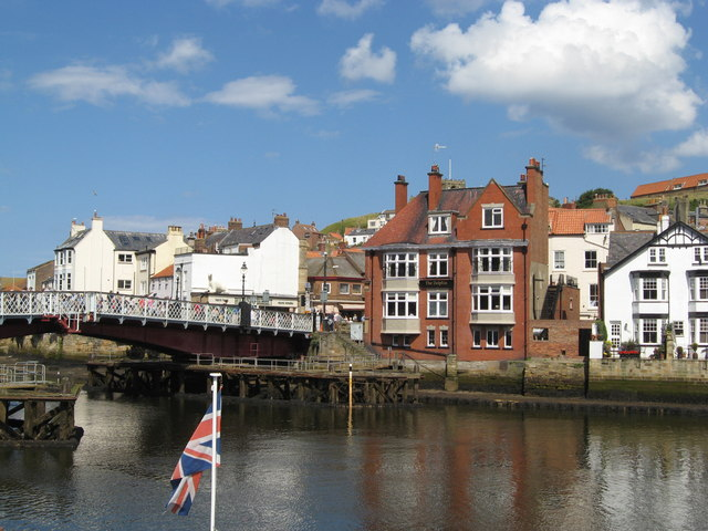 Across the bridge to The Dolphin pub, Whitby
