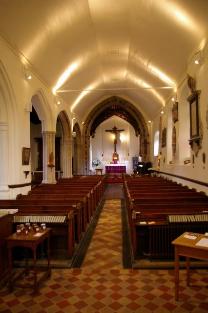 Interior of St Mary Elms