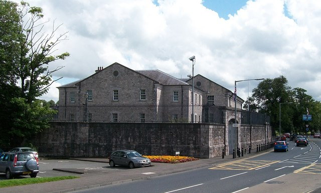 The rear of Armagh's Crown Court