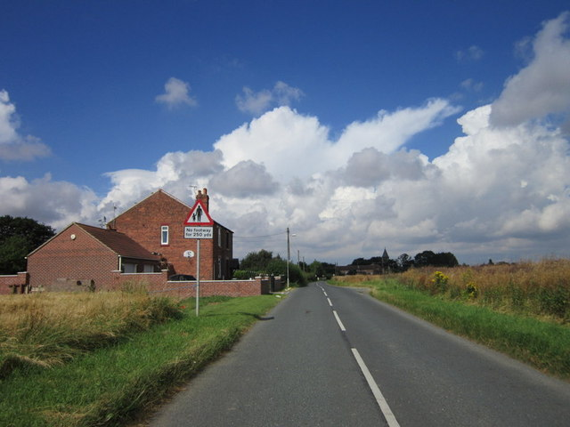 A house on the outskirts of Chapel Haddlesey