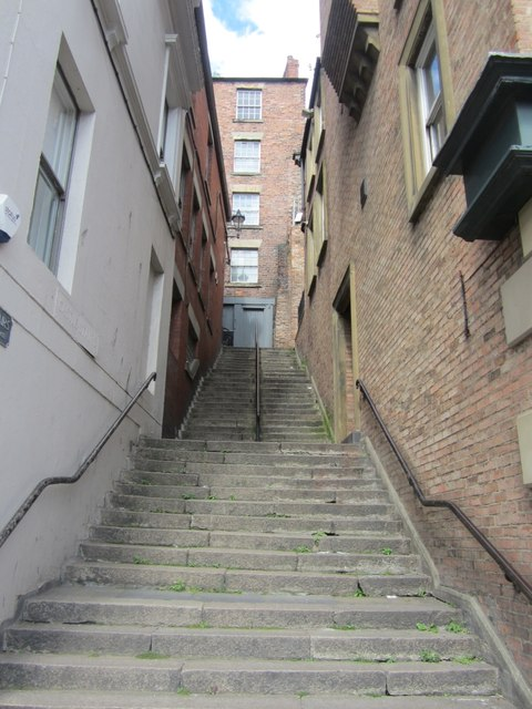 castle stairs  newcastle upon tyne  u00a9 graham robson    geograph britain and ireland