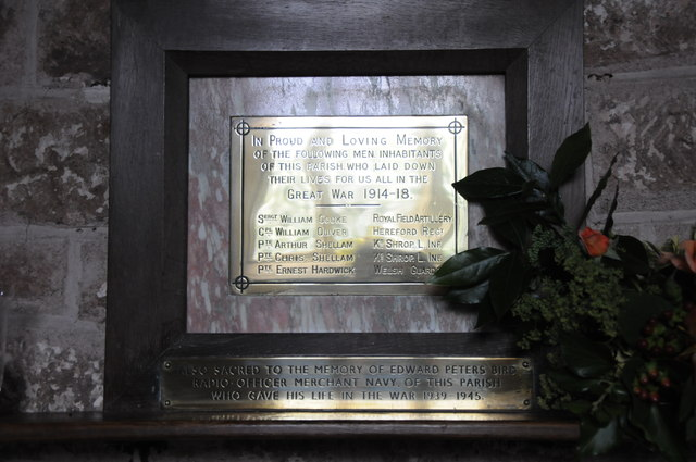 War memorial, Castle Frome church