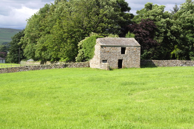Barn on south side of A684