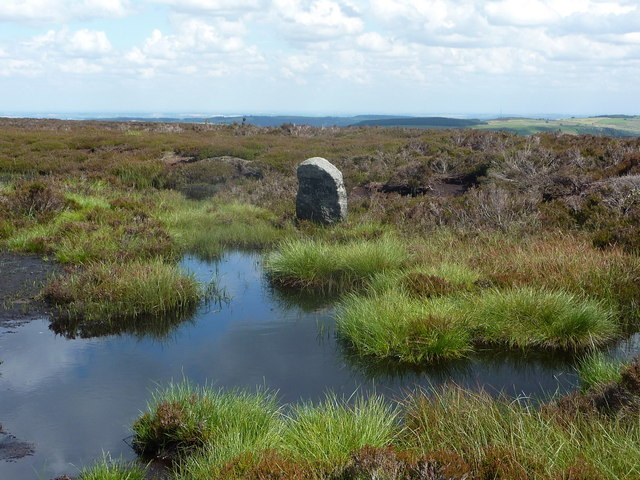 Moorland pool and boundary stone andrew hill geograph britain and ireland for East boundary road swimming pool