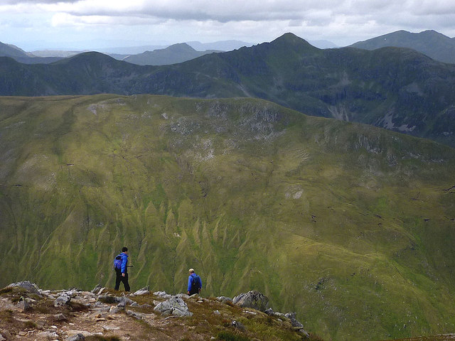 Leaving the top of Sgurr nan Conbhaireann