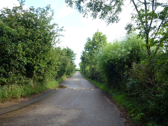 Road to Titchwell car park