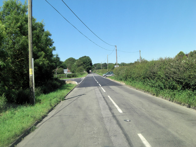 Ermin Street crossroads west of Batten's Farm