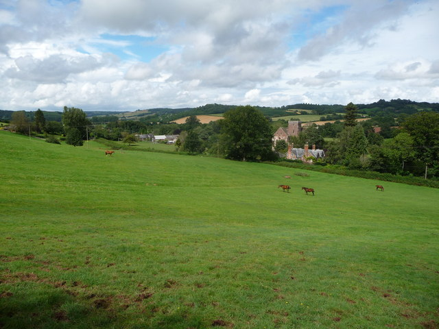 Fields overlooking Dore Abbey