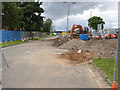 SK5638 : Working site on Meadows Way West  by Alan Murray-Rust