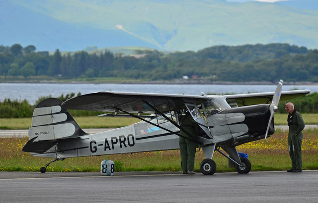 Vintage Auster at Oban Airport