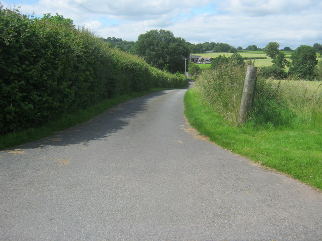 Access road for farm from A438 layby