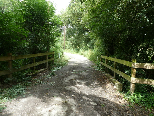 Bridleway bridge over small stream