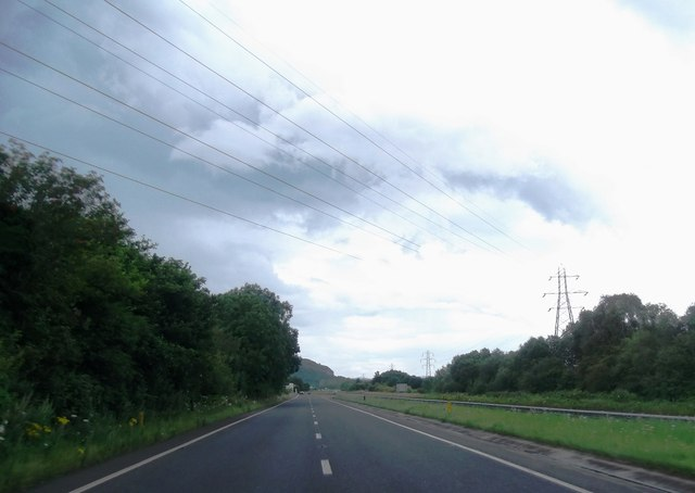 Power lines cross the A590