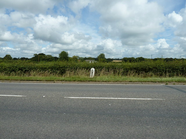 Bowbells milepost on the A22
