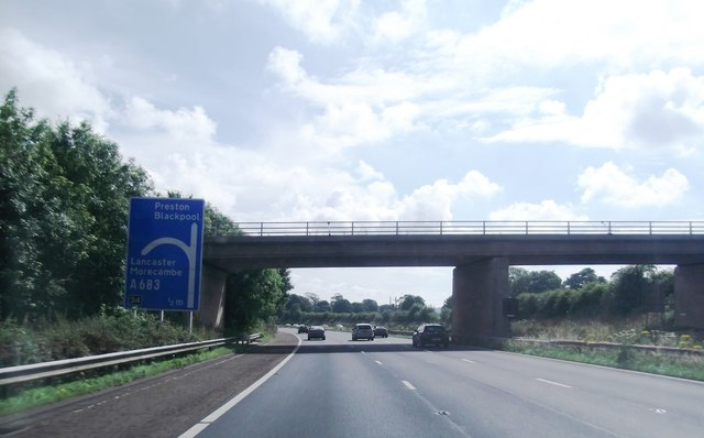 Foundry Lane crosses the M6