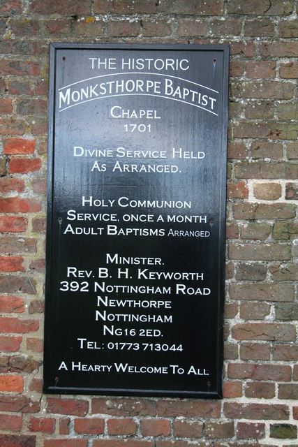 Monksthorpe Baptist chapel