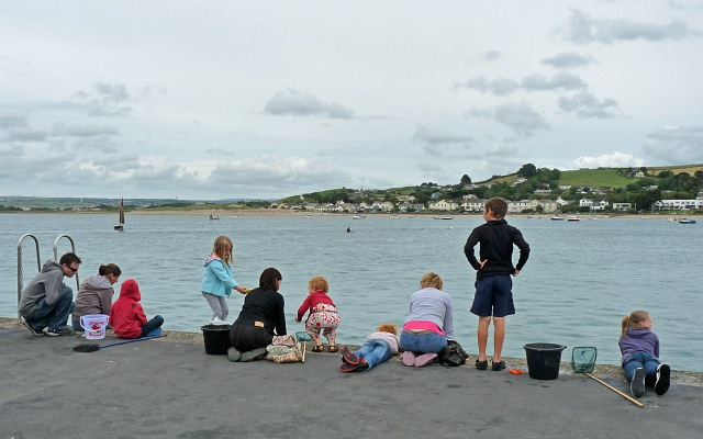 Crabbing on The Quay at Appledore
