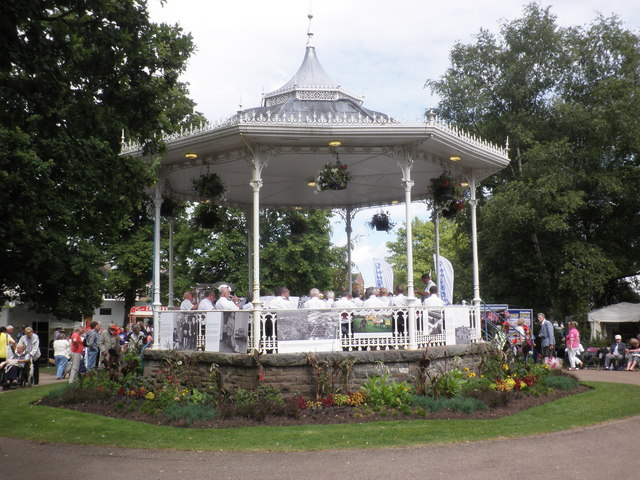 The bandstand in Vivary Park, Taunton