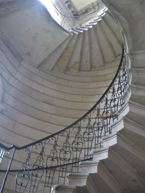 Spiral staircase at seaton delaval hall derek voller cc for Square spiral staircase plans hall