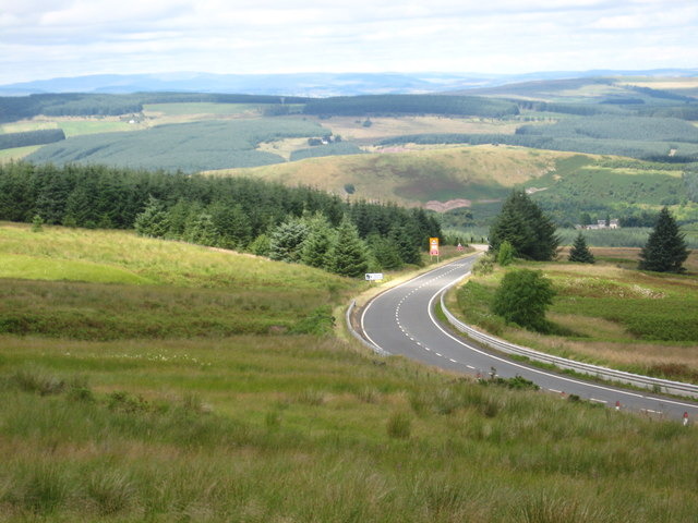 A view over the A68 from Carcleugh Shin