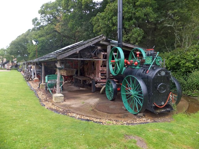 Farm steam engine at Calbourne Mill museum
