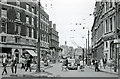 TQ2378 : Brook Green Road (now Shepherds Bush Road) at Hammersmith Broadway, 1959 by Ben Brooksbank