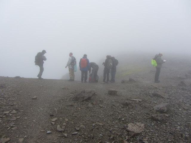 Group near Tower Gully, Ben Nevis