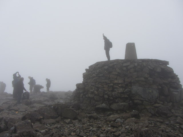 Trig point celebrations, Ben Nevis