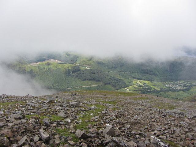 Clearing cloud on Ben Nevis