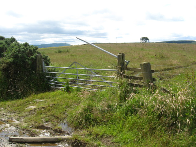 A broken gate in to the fields between Highend and Midburn