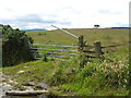 NT5610 : A broken gate in to the fields between Highend and Midburn by jim and liz denham