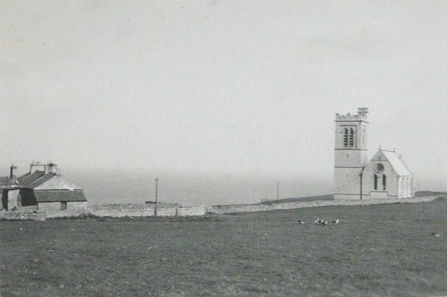 St Helena's Church, Lundy in 1943